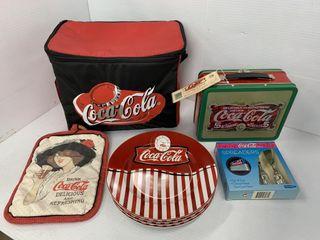 Coca Cola Plates  lunchbox  Asst