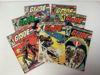 7  Marvel G I  Joe Comic Books