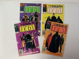 4   Marvel Return of the Jedi Comic Books