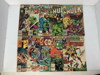 10   Marvel Comic Books  Hulk  Thor  Avengers and