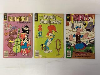 3   Comic Books   Bullwinkle  Woody Woodpecker