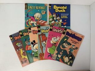 8   Uncle Scrooge and Donald Duck Comic Books