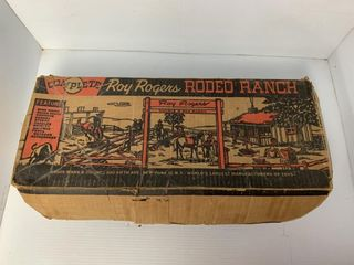 Marx Roy Rogers Rodeo Ranch Tin Playset