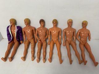 6   Vintage Ken Dolls