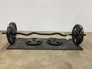 Golds Gym Curling Bar   Weights