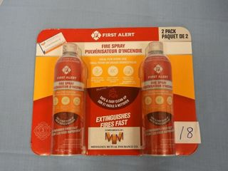 Two pack First Alert Fire Spray