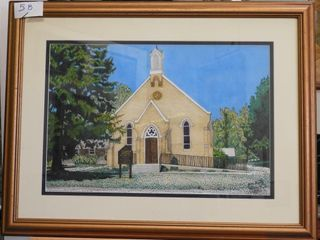 St  George s Anglican Church Watercolour