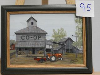 Painting of Ilderton Co op by Dave Gillis