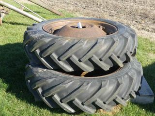 Pair of 10 28 Goodyear Tires and Rims
