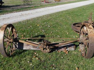Front Axle w Steel Wheels