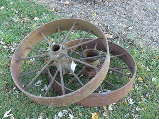 Pair of 32in Steel Wheels