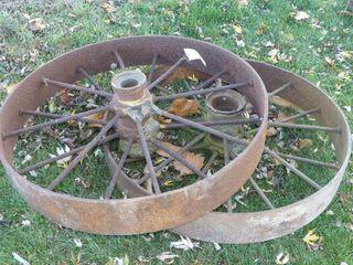 Pair of 38in Steel Wheels