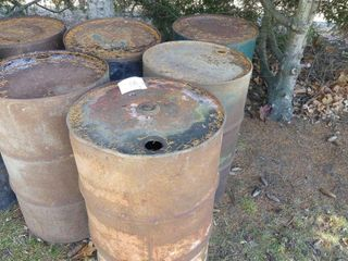 5 45 Gallon Steel Barrrels