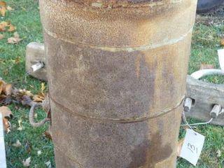 Tin Flour Barrel w lid
