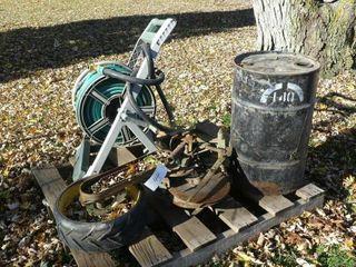 John Deere Planter Unit  Hose Reel and Barrel