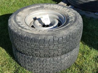 Pair of 255 75R15 Tires and Rims