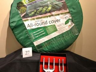 Pop up Garden Cover and Trowel Set