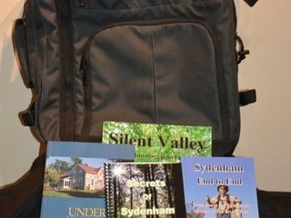 large Carry On Backpack with local Hiking Books