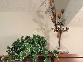 Greenery   Glass vase