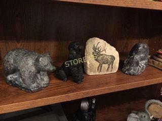 Bear Figurines  Coaters  Etc