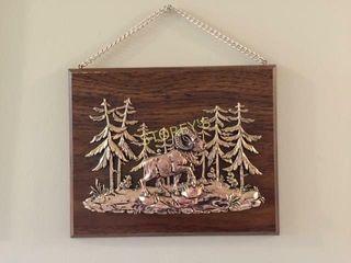 Canada Wood Wall Plaque   10 x 8