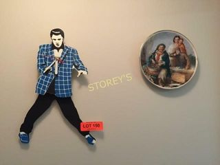 Elvis Clock   Collectors Plate