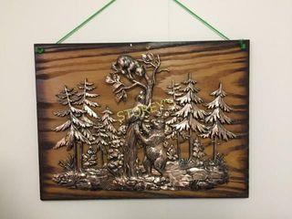 Bear Wood Plaque