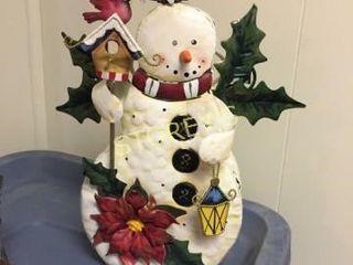 light Up Tin Snowman