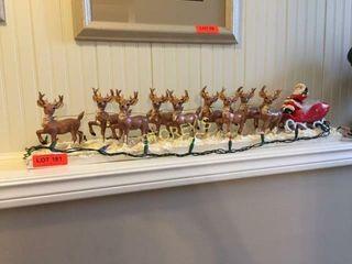 32  Santa   Reindeer Mantle Display