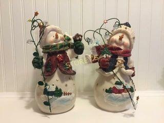 2 Decorative Snowman