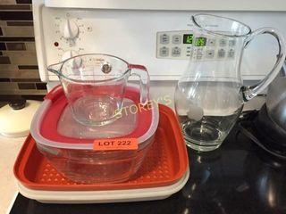 Glass Jug  Measuring Cup  Etc