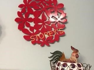 Rooster   Red Decorative Plate