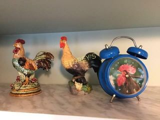 2 Roosters   Clock