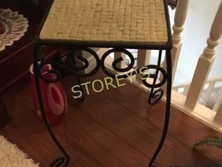 Tile Top Plant Stand   10 x 10 x 12