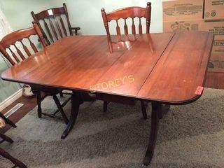 Duncan Phyfe Dining Table  38 x 62