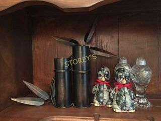 Candle Holder  Salt   Pepper Shakers