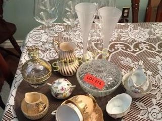 6 Wine Glasses  Candy Dishes  Tea Cups  Etc