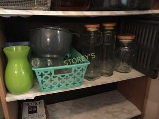 Glass Jars  Mixing Bowls  Etc
