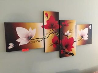 4 Canvas Flower Pictures