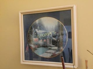 Framed Collectors Plate