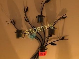 2 Wall Candle Decor Pieces
