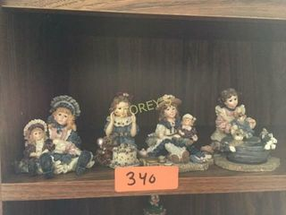 4 Dollstone Collection Figurines