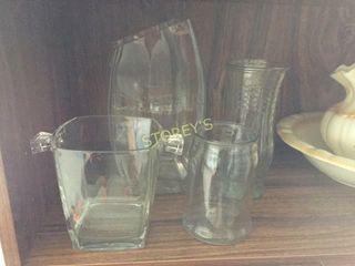 4 Glass Vases