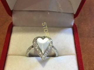 14kt Gold  26ct Diamond Heart Ring    1550