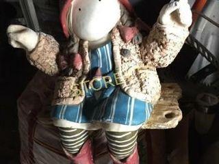 Girl on Seat Garden Gnome