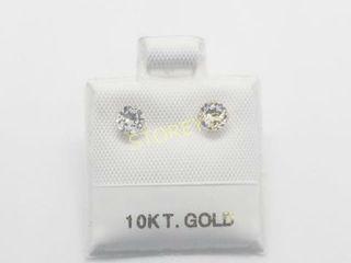 10K White Topaz 0 45ct  Earrings    180