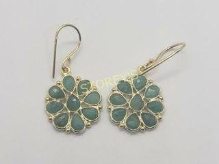 Silver Emerald Earrings    240