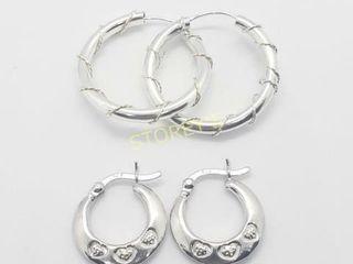 Silver lots Of 2 Pairs Earrings    100