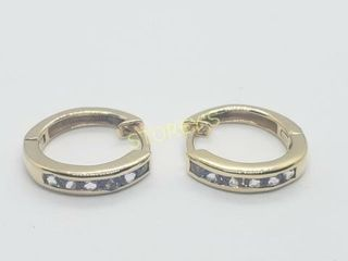 Silver Tanzanite Hoop Earrings    140