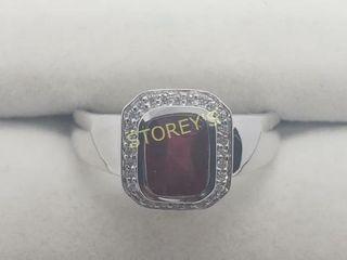 Silver Garnet Ring    160